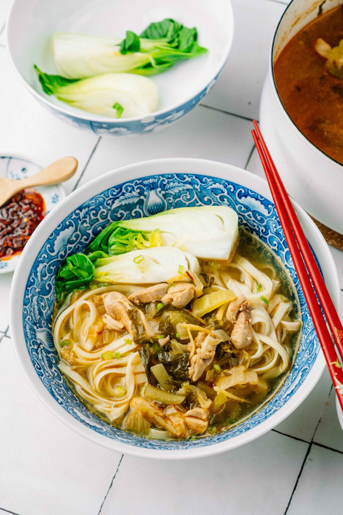 Hot and Spicy Chicken Noodle Soup - Soy and Pepper